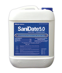 SaniDate 5.0 Sanitizer Disinfectant, OMRI Listed, 2.5 Gals., BioSafe Systems